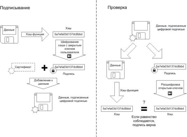 Алгоритмы подписи и проверки ЭП
