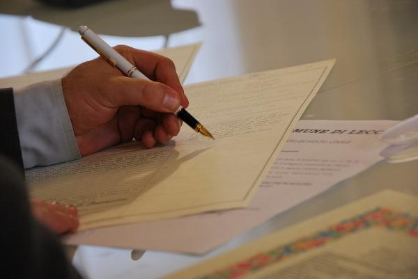 Подпись первичных документов