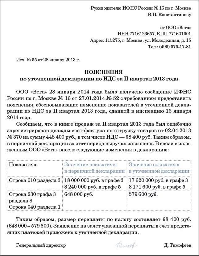 Правила корректировки в декларации по НДС