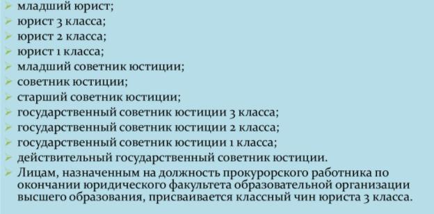 Чины прокуратуры России